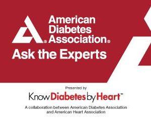 "American Diabetes Association ""ask the experts"" logo"
