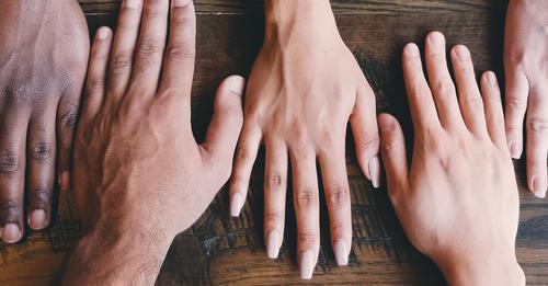 photo of hands of different skin tones