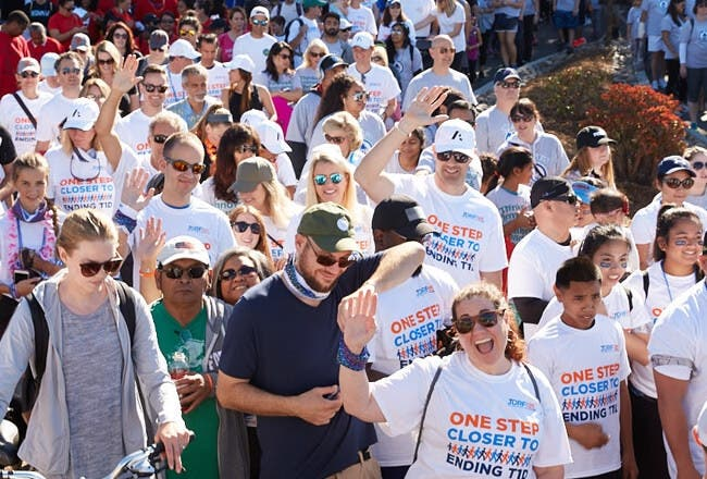 People at a JDRF walk